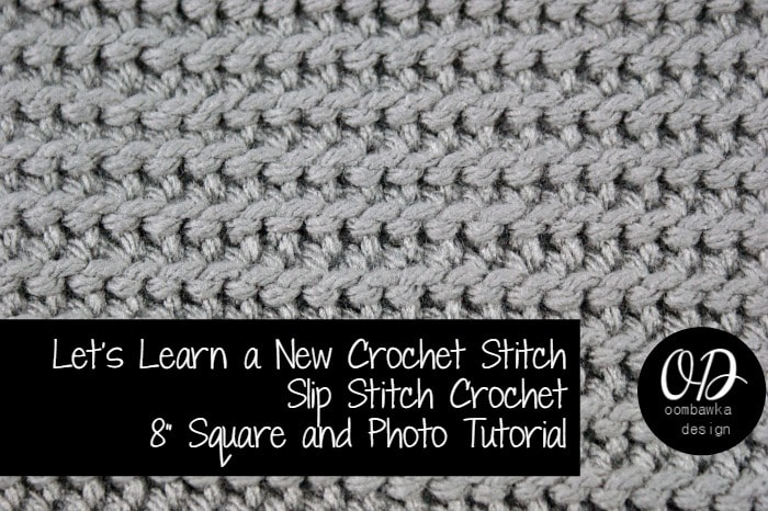 Learn how crochet the slip stitch (sl st) crochet pattern with this photo tutorial. Instructions are provided to crochet an 8