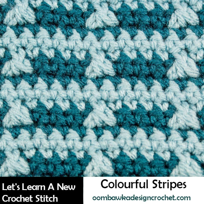 Learn how crochet the colorful stripes stitchpattern with this photo tutorial.