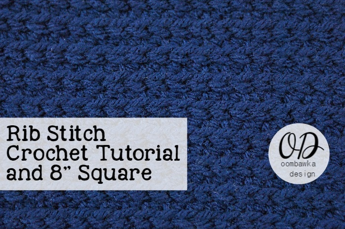 Learn how crochet the rib stitch pattern with this photo tutorial. Instructions are provided to crochet an 8