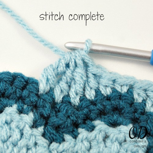 Follow the tr3tog (triple stitch 3 together) tutorial to learn how to decrease from 3 triple crochet stitches to 1 triple crochet stitch (tr).