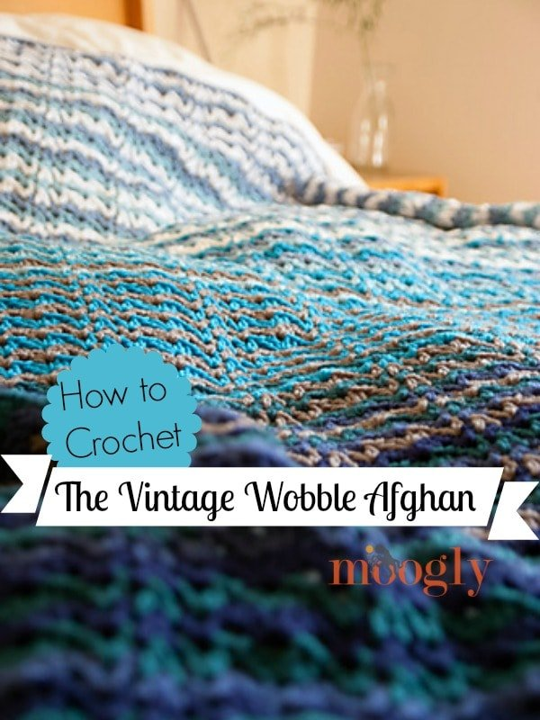 Learn how to crochet the Vintage Wobble Afghan by following this video tutorial.