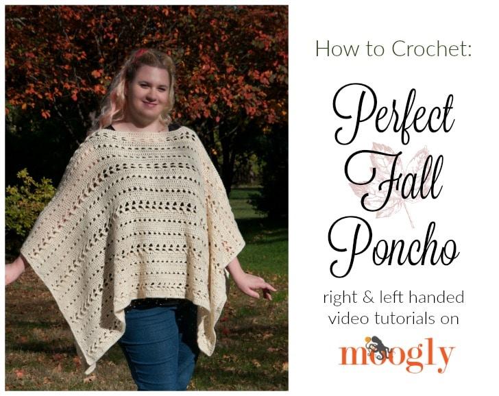 Perfect-Fall-Poncho-video-tutorial - Free Crochet Tutorials