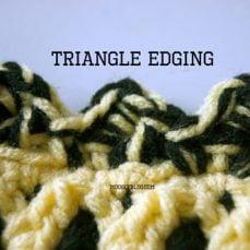Triangle Crochet Edging Tutorial