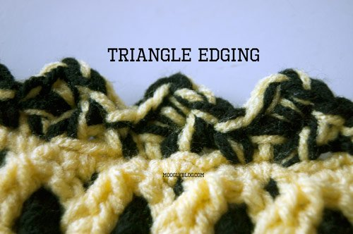 Learn how to make this triangle crochet edging with this video tutorial