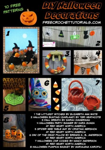 10 Free Patterns for DIY Halloween Decorations