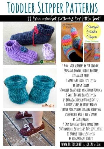 Crochet Toddler Slipper Patterns - Free Crochet Patterns