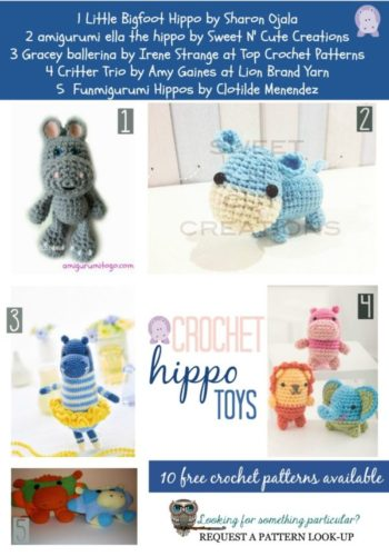 Hippos Toys In All Shapes And Sizes Free Crochet Tutorials