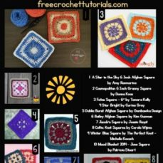 6 Inch Afghan Squares Free Patterns