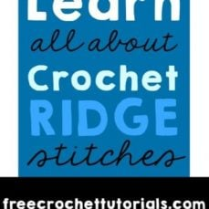 Crochet Ridge Stitches