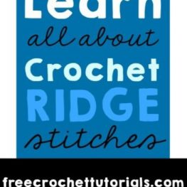 Learn All About Crochet Ridge Stitches