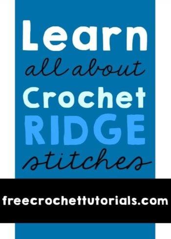 Crochet Ridge Stitches