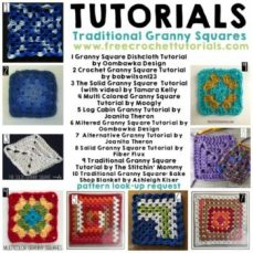 10 Tutorials for Traditional Granny Squares