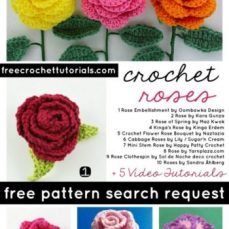 CROCHET ROSES PATTERN SEARCH COMPLETED FREECROCHETTUTORIALS.COM