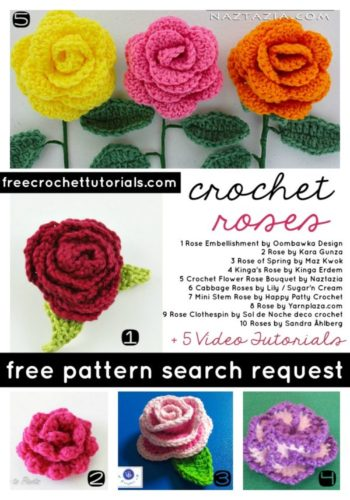 Crochet Roses with Video Tutorials