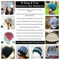 10 Easy and Free Women's Hat Patterns