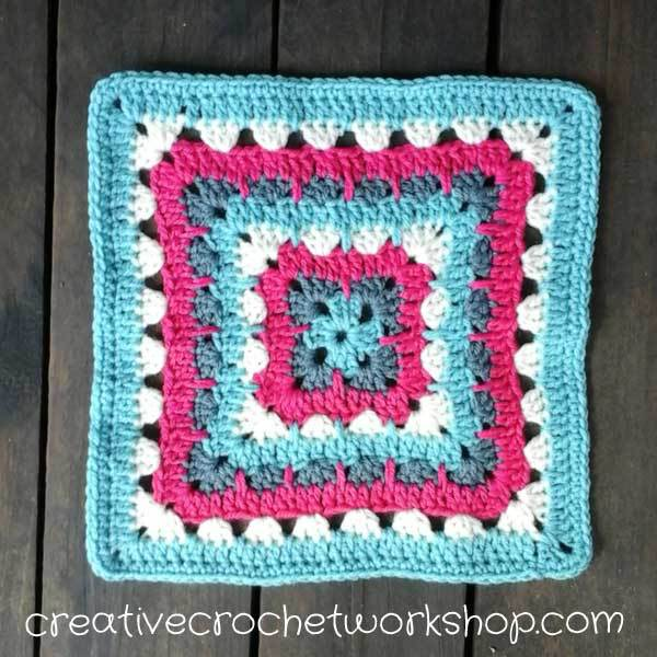 Learn Crochet Tutorials : Spiked Row Granny Square Tutorial Free Crochet Tutorials