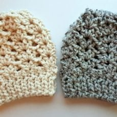 Ponytail or KNOT Hat Tutorial