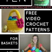 Video Crochet Patterns for Baskets