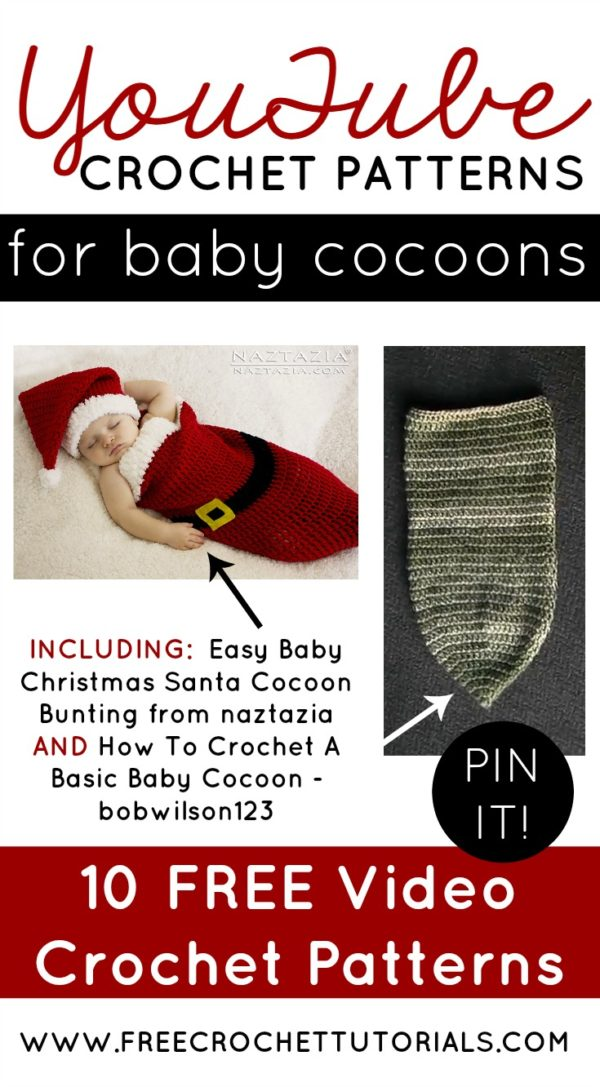 Video Crochet Patterns For Baby Cocoons Free Crochet Tutorials