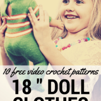 10 FREE Video Crochet Patterns for 18 Inch Doll Clothes