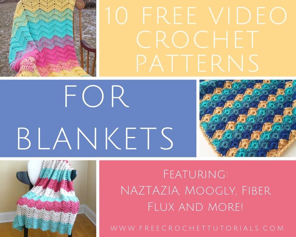 10 Free Video Crochet Patterns For Blankets Free Crochet Tutorials