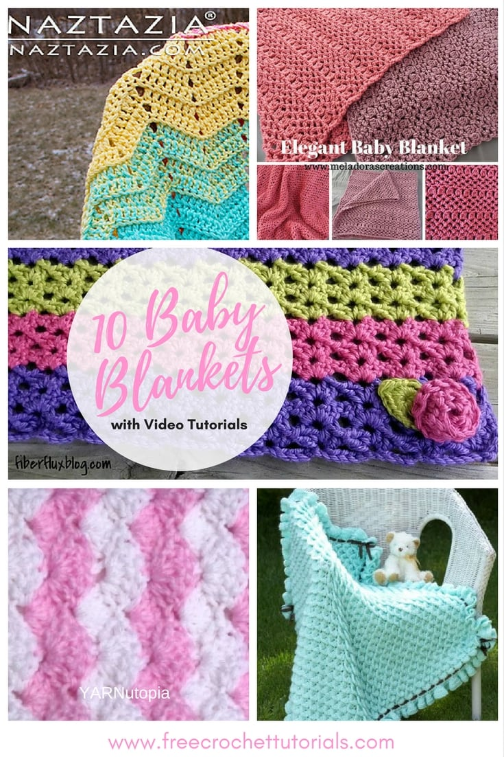 10 Free Patterns for Crochet Baby Blankets