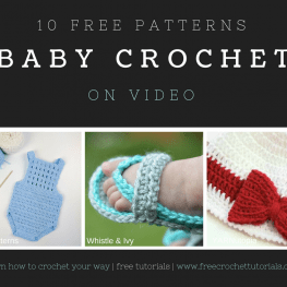 10 Free Video Crochet Patterns for Babies