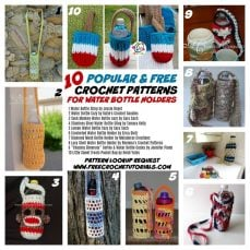 10 Popular and Free Crochet Patterns for Water Bottle Holders