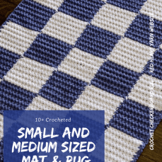 10+ Free Patterns for Small and Medium Floor Mats