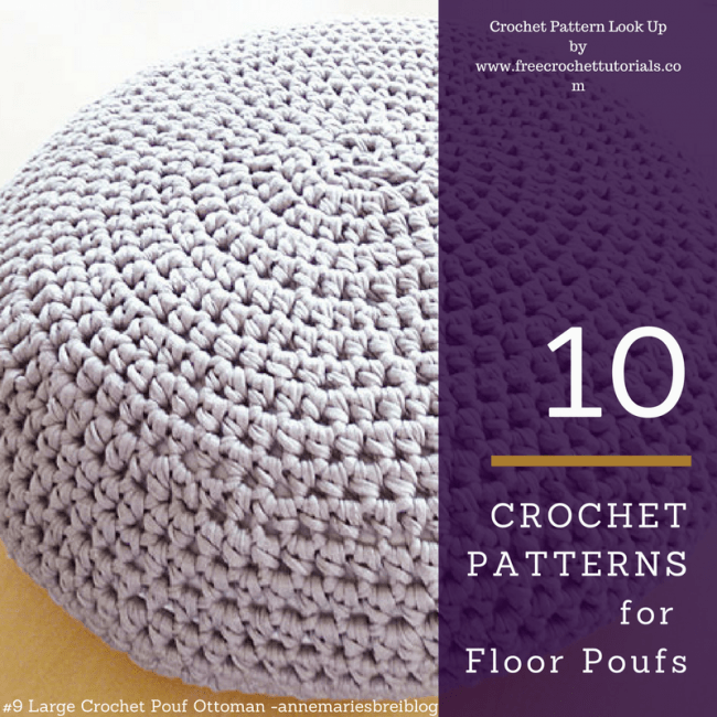 10 Crochet Patterns for T-Shirt Yarn Floor Poufs