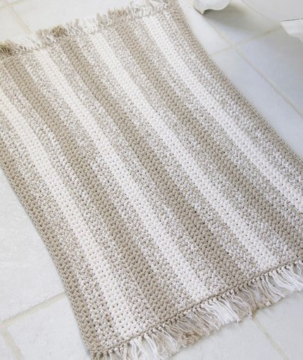 Red Heart Natural Stripes Rug