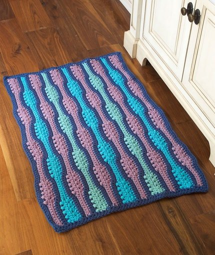 Textured Waves Rug Red Heart Website