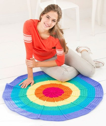Rainbow Rug Red Heart Yarn Website