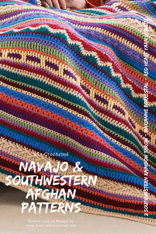 Navajo and Southwestern Style Afghan Patterns Lookup Request FreeCrochetTutorials Pinterest