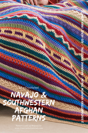 This week we have had a request from Rita for some ideas for Southwestern Style or Navajo Blanket and Afghan patterns. I've searched on a few sources online to find a collection of patterns for this theme. I hope you find one you like in this collection. Most of these designs are free crochet patterns but some premium patterns are also available.
