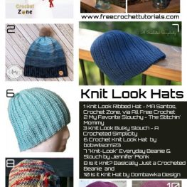 10 Popular Knit Look Hat Patterns