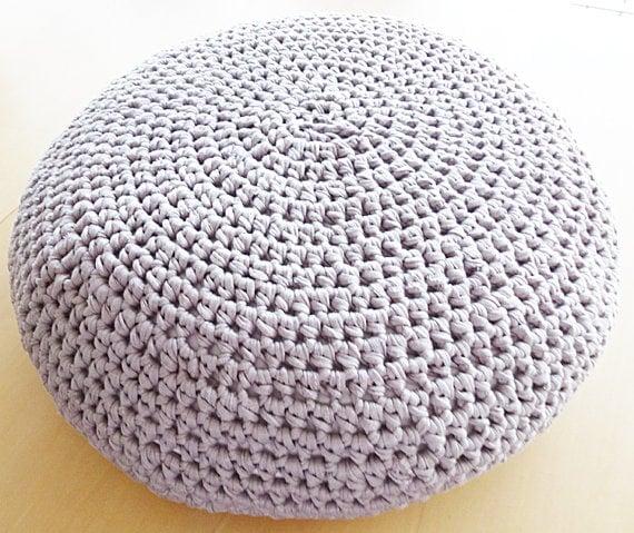 Large Crochet Pouf Ottomon