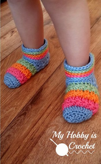 Starlight Toddler Slippers - My Hobby is Crochet