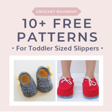 10 Free Patterns for Toddler Sized Slippers. Free Crochet Tutorials FB