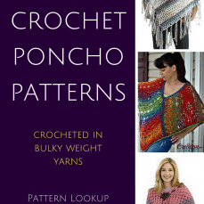 10 Free Patternsfor Crochet Ponchos Using Bulky Weight Yarn