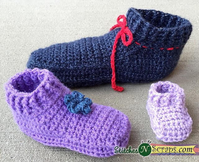 Non Stop Toddler Slippers - Stitches n Scraps