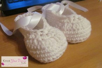 Ballerina Slippers Toddler - Not Your Nanas Crochet