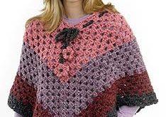 Groovy Granny Poncho Lion Brand Yarn - Pattern Lookup - FreeCrochetTutorials