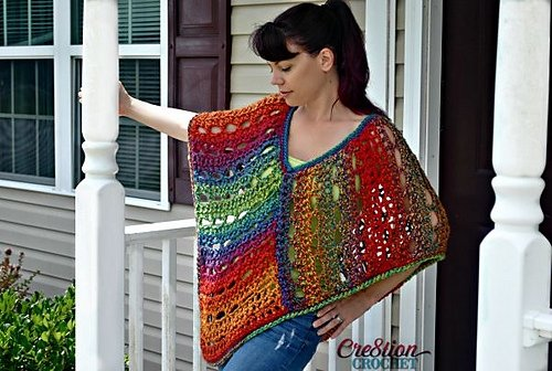 10 Free Crochet Poncho Patterns Using Bulky Weight Yarn Free
