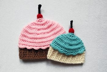 Ice Cream Cupcake Hat Pattern