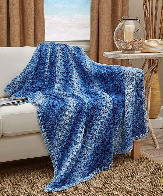 Corner to Corner Ombre Blanket
