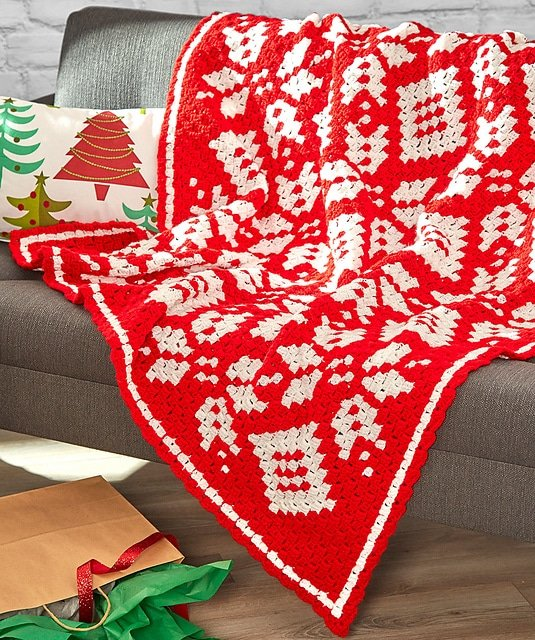 Corner to Corner Snowflake Throw