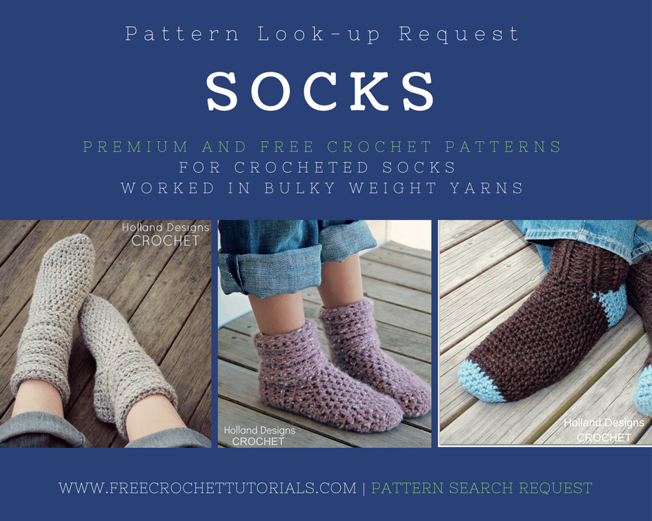 Pattern Lookup Request Socks in Bulky Weight Yarn