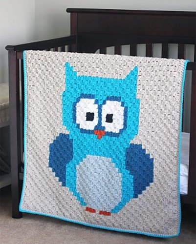 Corner to Corner Baby Owl Blanket Repeat Crafter Me