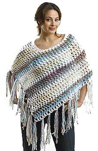 Monster in Law Poncho Lion Brand Yarn